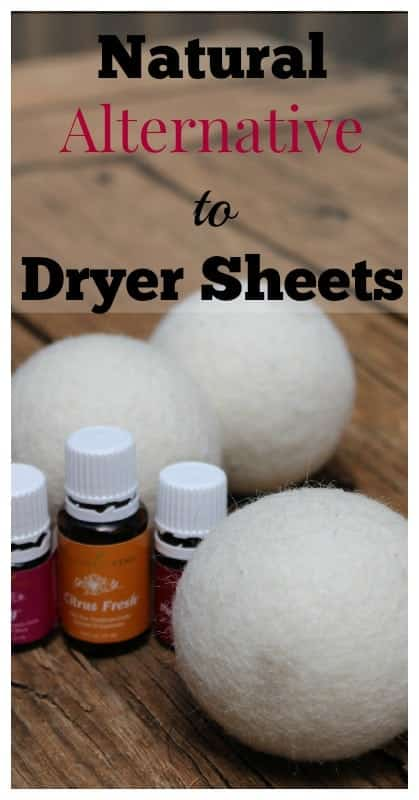 Natural alternative to dryer sheets - a dryer ball tutorial!