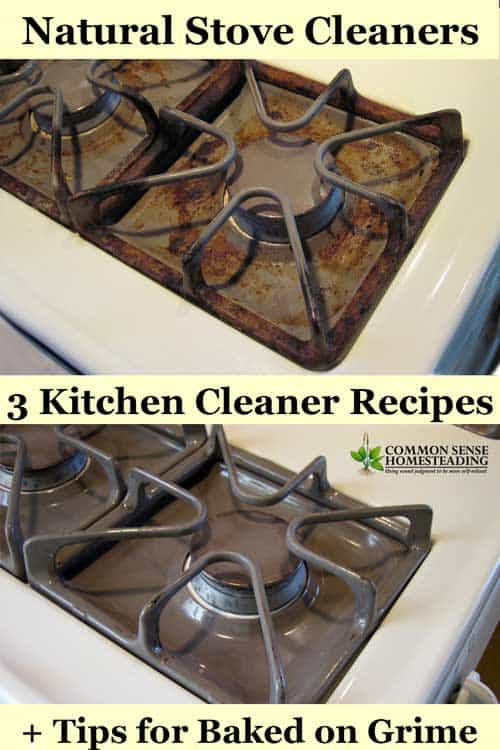 3 Natural Stove Cleaner Recipes