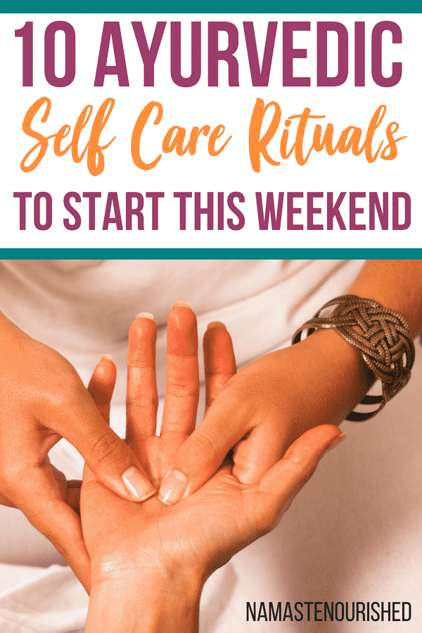 Ayurvedic self care rituals that you can start this weekend #selfcare #selfcaresunday #ayurveda #ayurvedalifestyle #ayurvedicselfcare