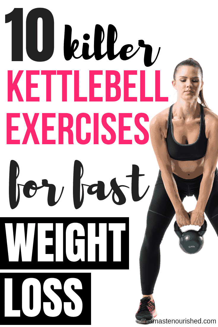 Kettlebell exercises are one of the best ways to lose weight fast. Click through to find out 10 of the best kettlebell exercises for weight loss