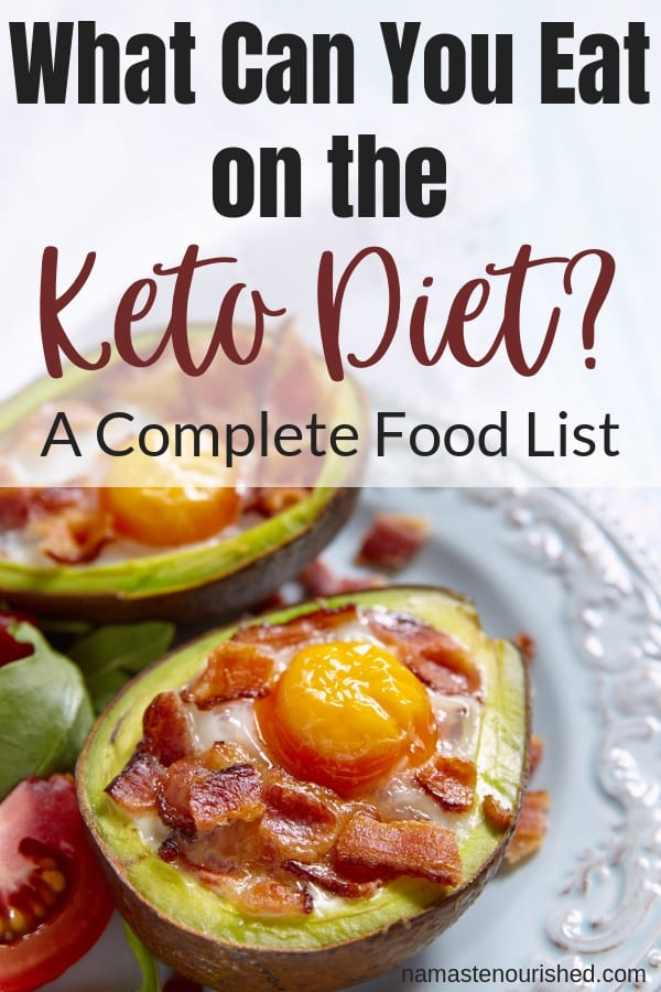 Keto Diet Food List for Beginners - What you can eat on a keto diet. #ketodiet #ketodietfoodlist #ketofoodlist
