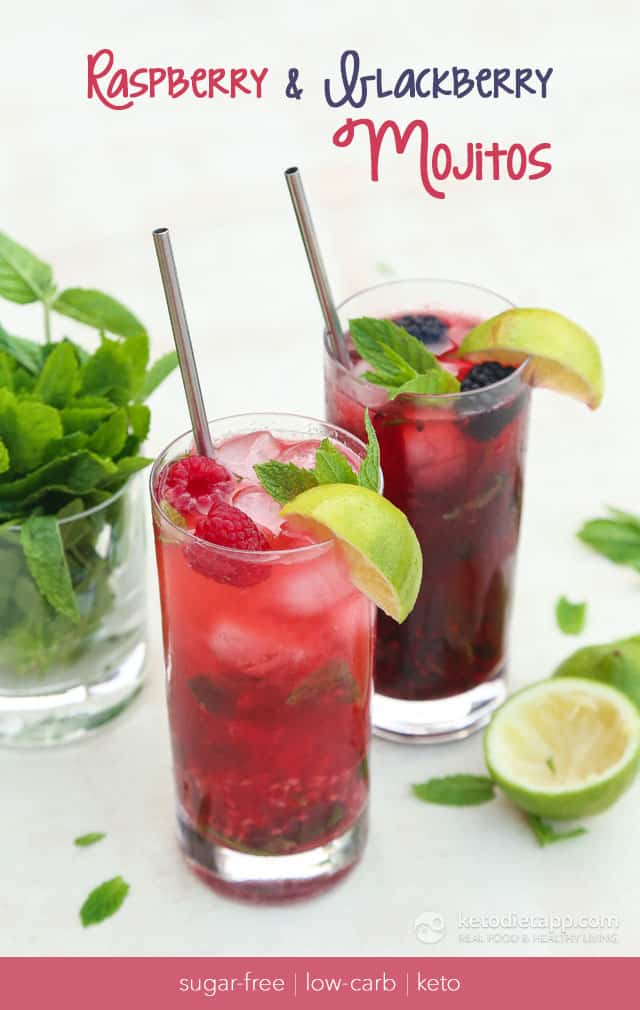 Raspberry & Blackberry Mojitos