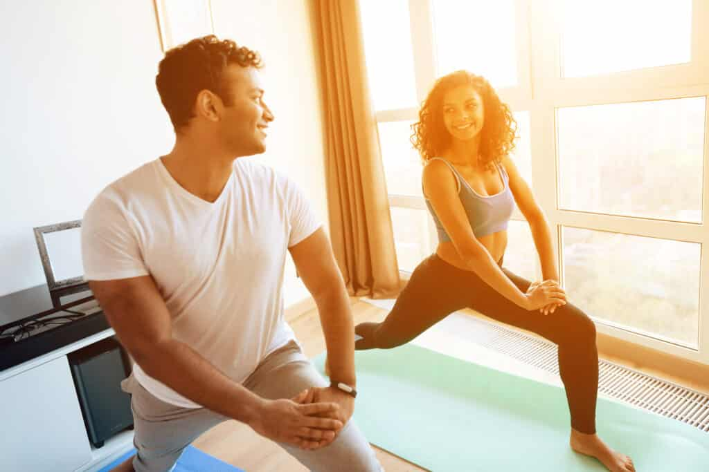 Yoga with your partner can enhance your love life