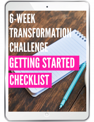 transformation challenge getting started checklist