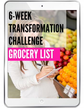 transformation challenge grocery list